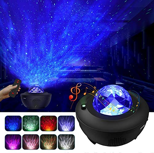 Galaxy Projector, Star Projector with Led Nebula Cloud, Music Starry Projector with Bluetooth Speaker, Night Light Projector for Bedroom Kids Adults