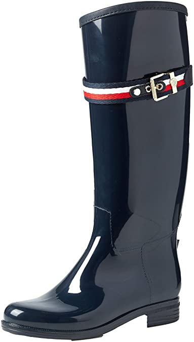 3420480bc4 Tommy Hilfiger Corporate Belt Long Rain Boot, Bottes Hautes Femme