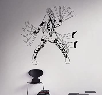 Kitana Vinyl Decal Mortal Kombat Wall Sticker Fighting Games Home Interior Living Room Removable Decor 5
