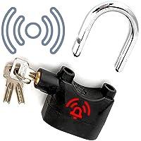 Candado con alarma para cadena de bicicleta, protección extra para bicicletas, cercado para moto, barco, seguridad…