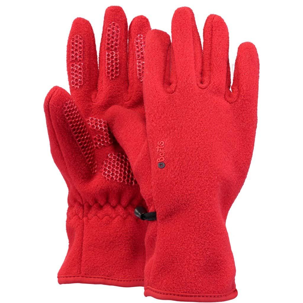 Rosso 5 Unisex-Bimbi Taglia Produttore:Taglia Unica Barts Fleece Kids Guanti, One Size