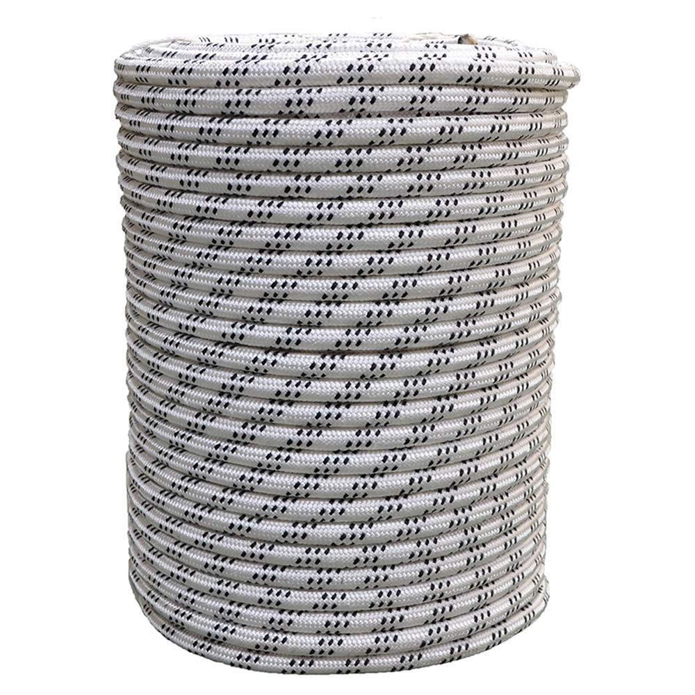 TY BEI YI GAO Wear-Resistant Polyester High-Altitude Safety Rope, Aerial Work Protection Rope, External Wall Work, Installation of Air-Conditioning Safety Rope, 2 Styles, 4 Sizes Rope