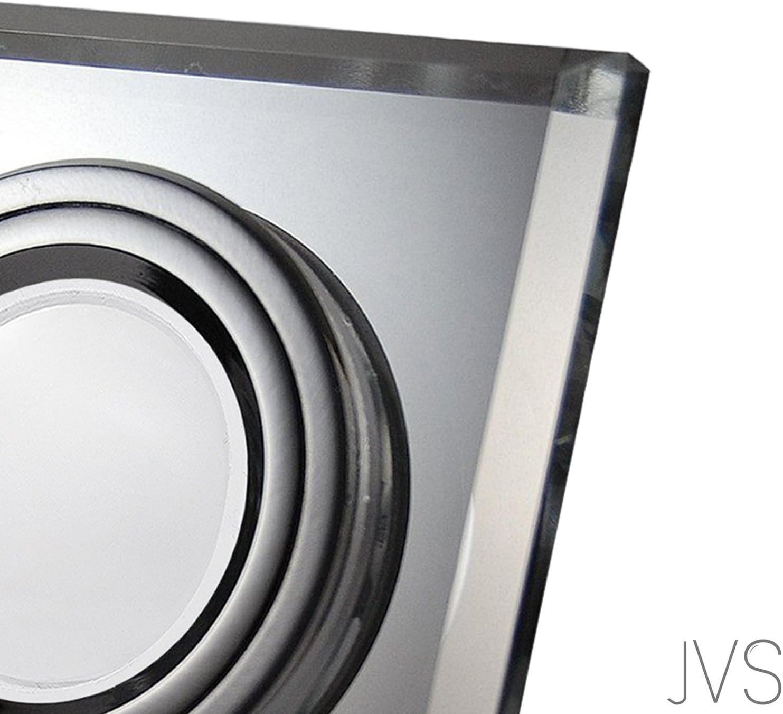 LED Einbaustrahler aus Glas/Spiegel/Klar extra-flach CRISTAL Eckig Inkl. 5X 5W LED Modul Warmweiss Einbautiefe: 30 mm 230V IP20 Deckenstrahler Einbauleuchte Deckeneinbaustrahler Einbauspot Clear 7er Set