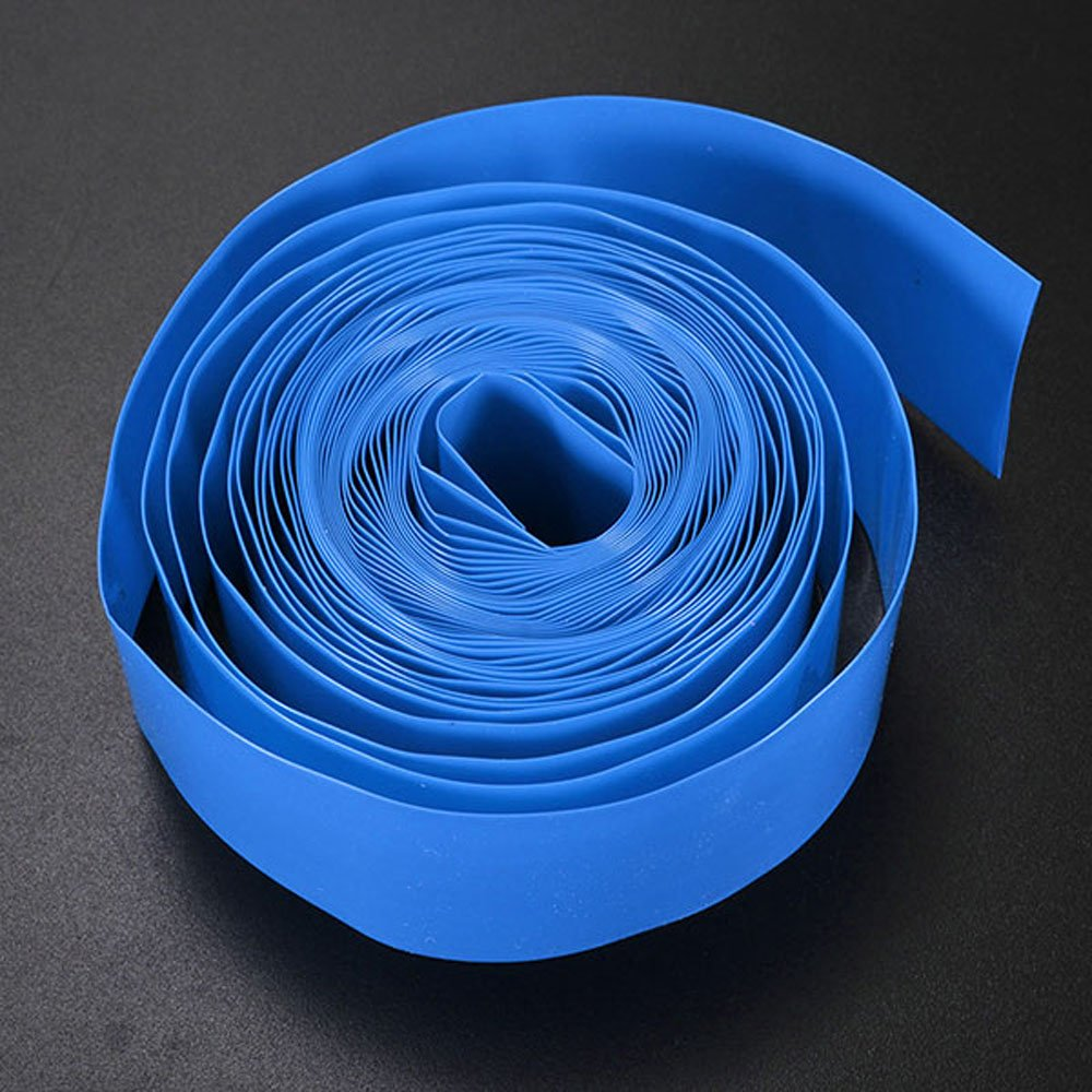 Summer-Home 8 Colors 16.4Ft//5M Flat 29.5MM 18.5MM PVC Heat Shrink Tubing Battery Wrap Tube Roll For 18650 18500 Battery