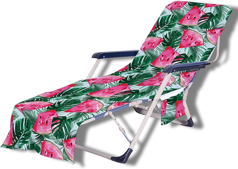 Stillshine. Tumbona Multifuncional con Diseño de SandíA Hoja Impresión,Toalla de Playa para Tumbona, Cubierta para Silla de Salón, Bolsa de Toalla, Vacaciones,Jardín (Color 4,75 × 210 cm)