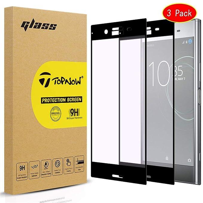 3 unidades] Sony Xperia XA1 Protector de pantalla, topnow 2.5d ...
