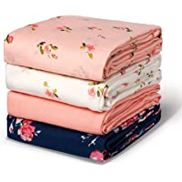 Momcozy Muslin Swaddle Blanket Baby Girl Newborn, 4 Pack Large Wrap Swaddle Blankets Soft Silky Breathable (70% Bamboo…