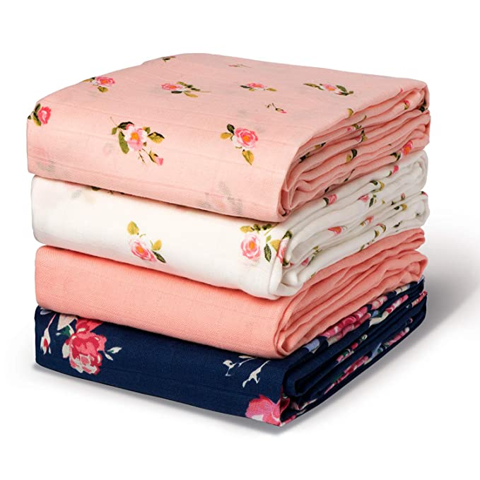 3 Pack Unisex Large Wrap Swaddle Blankets Soft Silky Breathable Receiving Blanket Momcozy Muslin Swaddle Blanket Baby Boy Girl Newborn 70/% Bamboo + 30/% Cotton