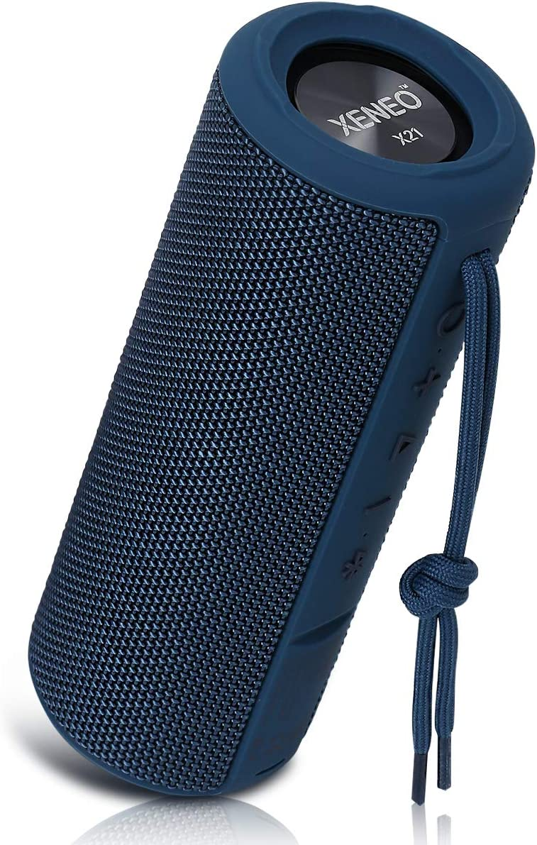 Xeneo X21 Portable Wireless Speaker Waterproof with TWS, FM Radio, Micro SD Card MP3 Player for Outdoor (Blue)
