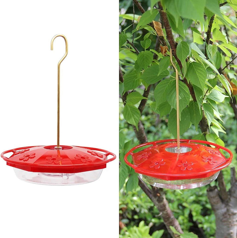 Hanging Hummingbird Feeder with 4 Flower Ports Yard Garden Window Bird 12 oz