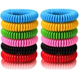 BuggyBands Mosquito Bracelets, 24 Pack Individually Wrapped, DEET Free, Natural and Waterproof Band