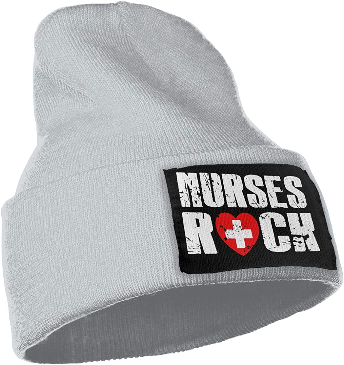 Unisex Winter Hats Nurses Rock Heart Love Skull Caps Knit Hat Cap Beanie Cap for Men//Womens