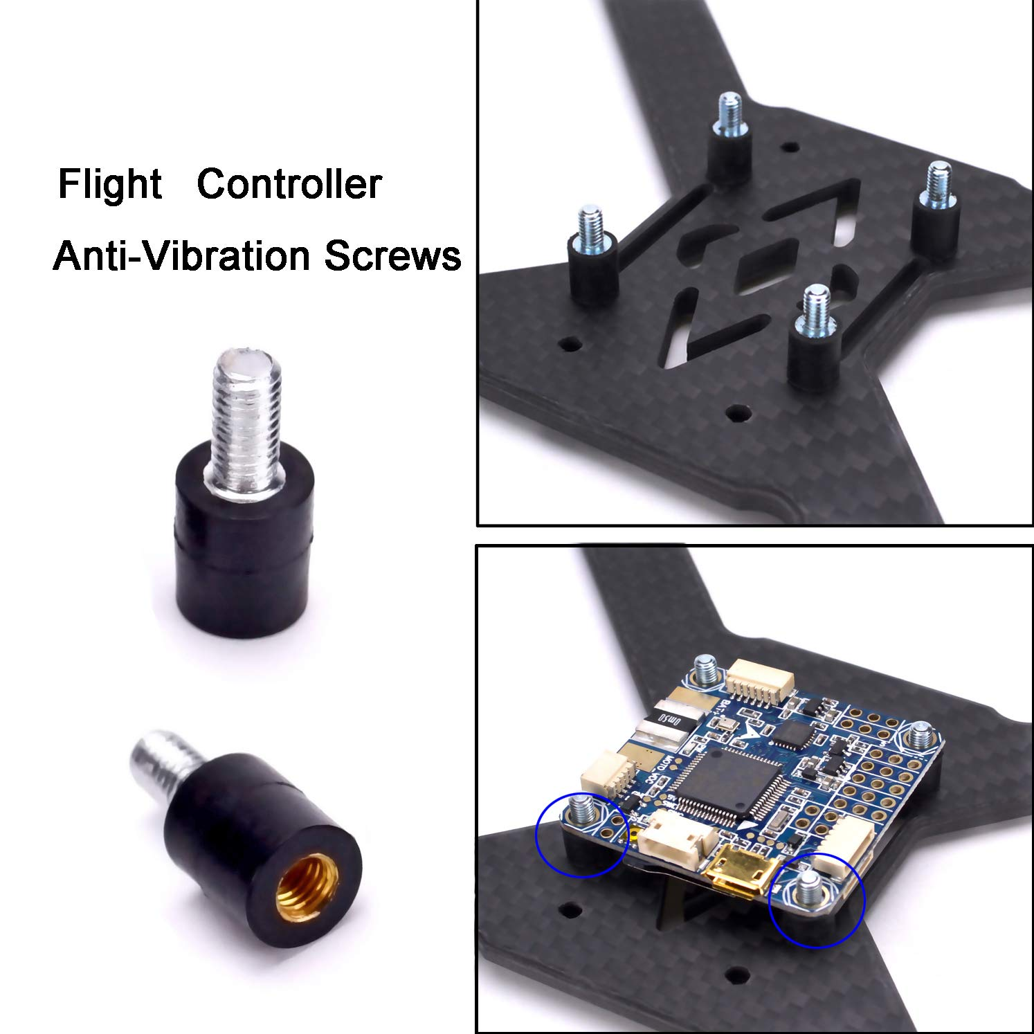 M3 Flight Controller Anti Vibration Fixed Screws Flying Hobby Sharing Agic Print Printing Circuit Boards With Mounting Hardware Standoffs Spacer For Naze32 Cc3d F3 F4 Toys Games