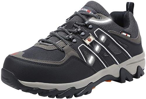 LARNMERN Zapatos de Seguridad para Hombre LM-105 Zapatillas de Seguridad Trabajo Industrial y Deportiva