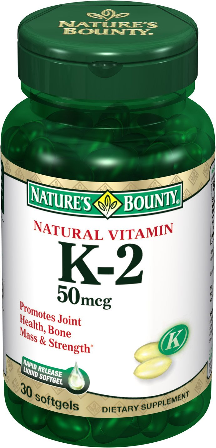 Amazon.com: Natures Bounty K2 50 Mcg Softgels, 30-Count: Health & Personal Care