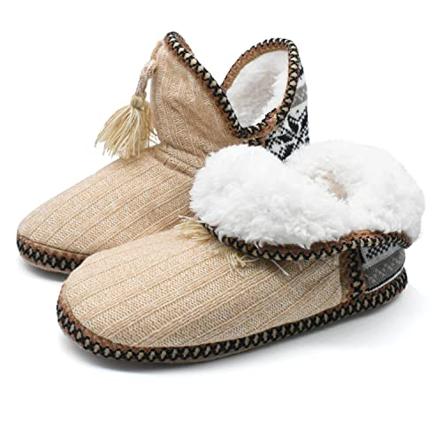 Amazon Coface Womens Indoor Knitted Slipper Boots With Cosy