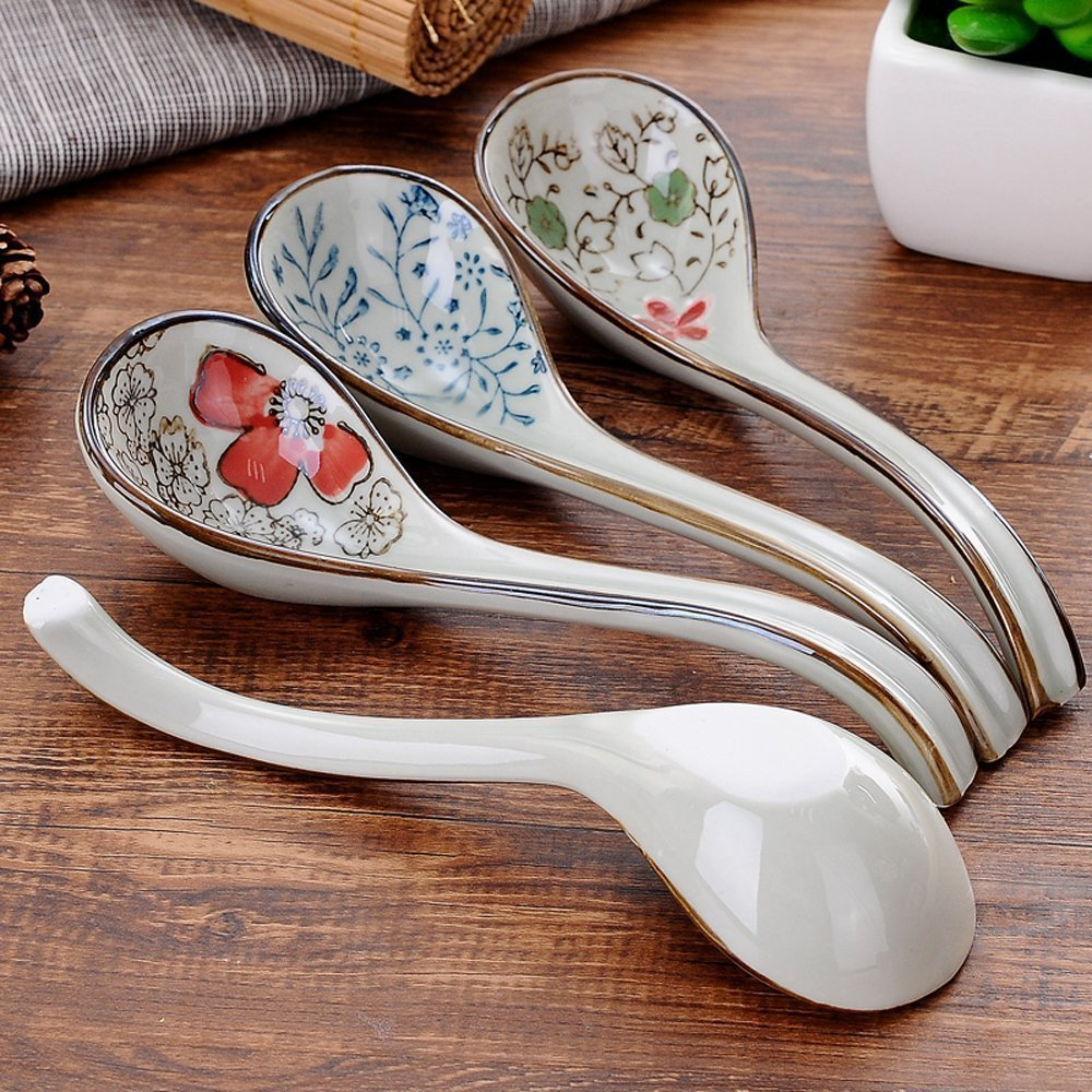 XDOBO Long handle Hook Spoon Soup Spoon Hand-crafted Tableware by xdobo (Image #2)
