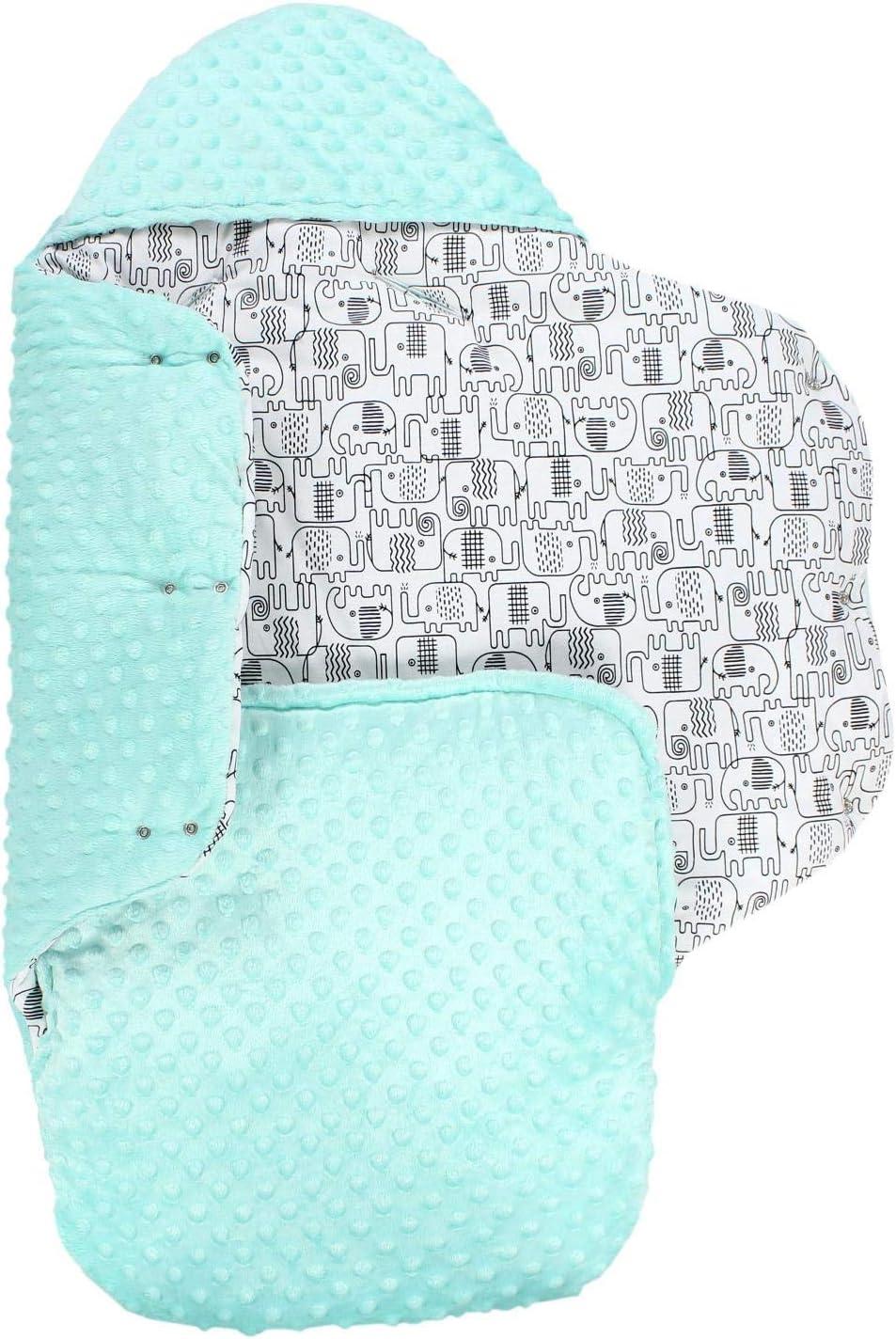 Minky Blue//Dark Blue Stars TupTam Universal Footmuff Baby Car Seat Wrap Blanket Winter