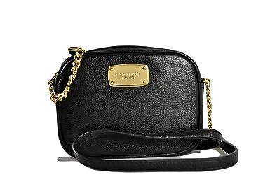 b002d34dd5 Michael Kors Hamilton Black Pebbled Leather Small Cross-body Bag ...
