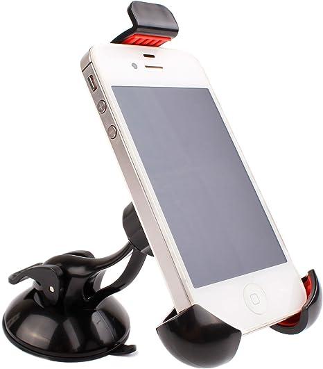 DURAGADGET Soporte Giratorio para Coche para Smartphone THL T6C | Doogee Valencia2 Y100 Plus | Elephone M2 | P7000 Pioneer: Amazon.es: Electrónica