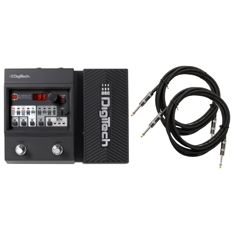 Digitech Element XP Guitar Floor Processor Multi-Effects Pedal w/ (2) 10' Guitar Cables by DigiTech