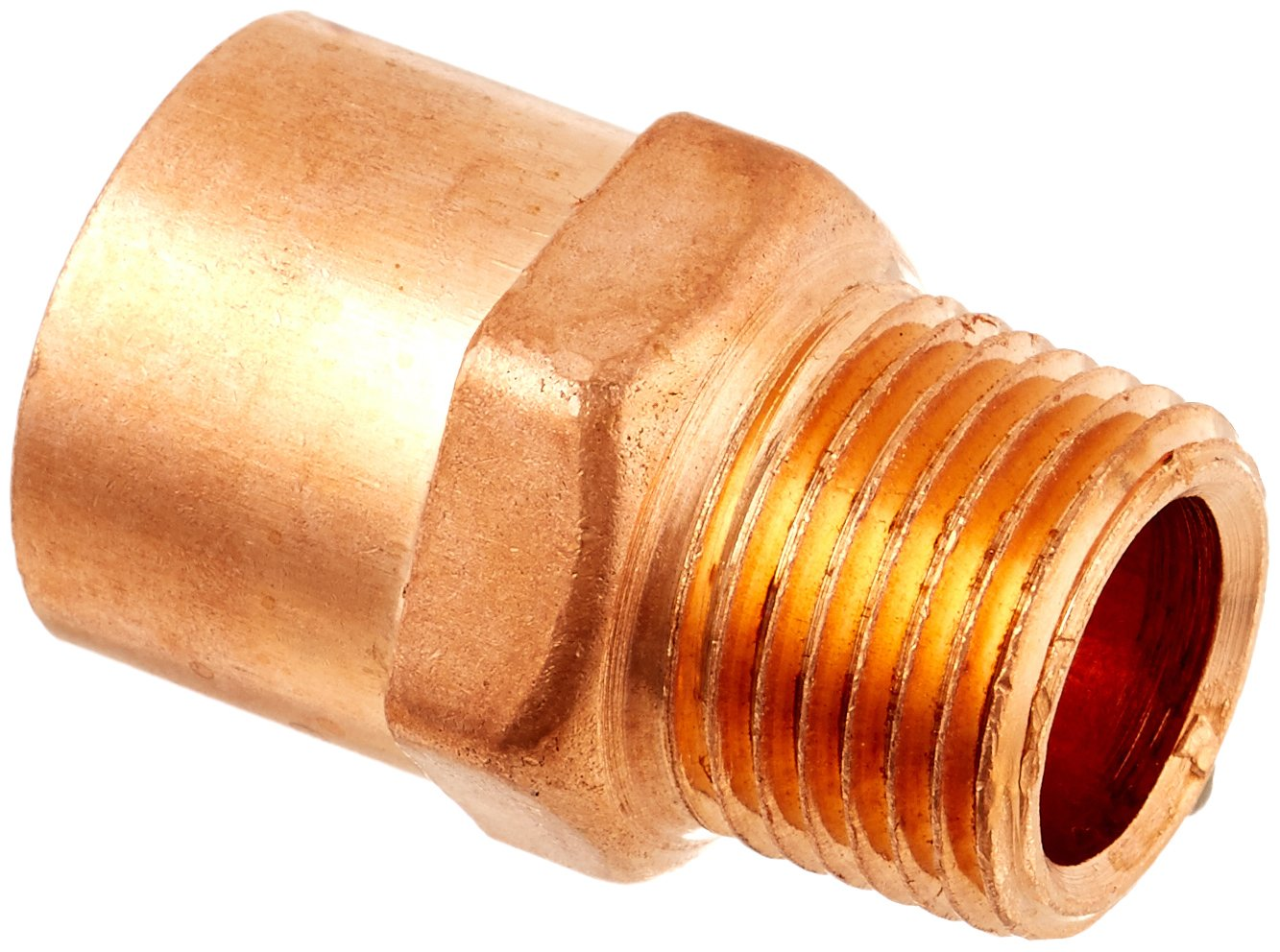 """10 3//4/"""" C x 1/"""" Male NPT Threaded Copper Adapters"""