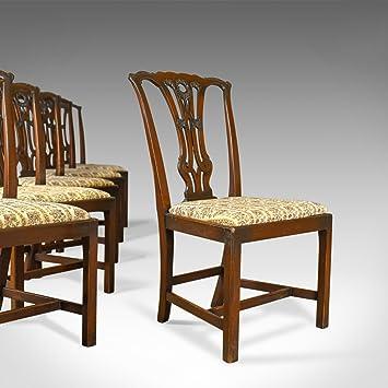 London Fine Antiques Juego de 6 sillas de Comedor Antiguas, diseño ...