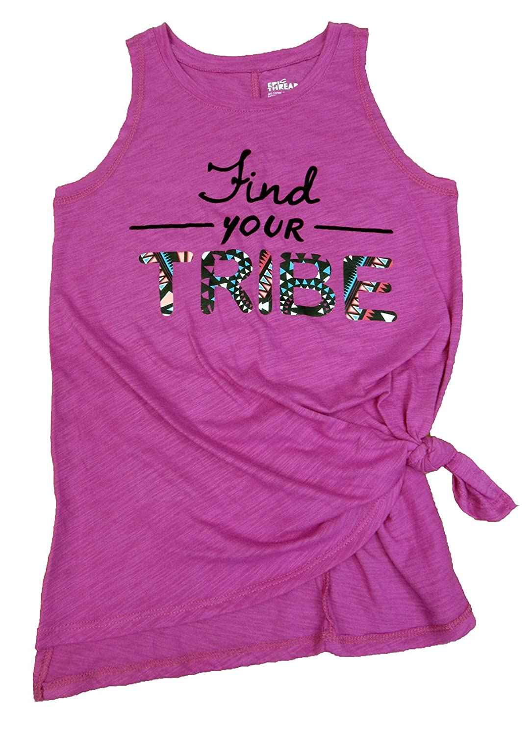 Epic Threads Big Girls Find Your Tribe Graphic-Print Tanktop Pink Orchid X-Large