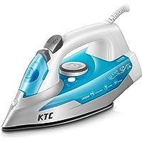 KTC Fer à Repasser 2400W - Fer à Vapeur - 300 ml - Bleu (anti-tartre, système anti-goutte, fonction d'auto-nettoyage)