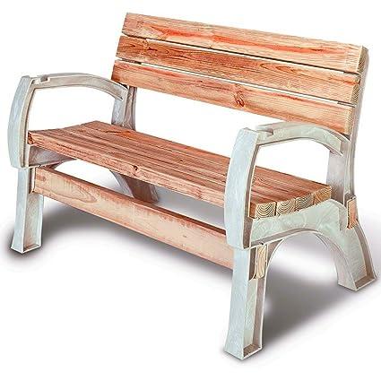 Outstanding Amazon Com Plastic Bench Ends Outdoor Adjustable Resin Machost Co Dining Chair Design Ideas Machostcouk