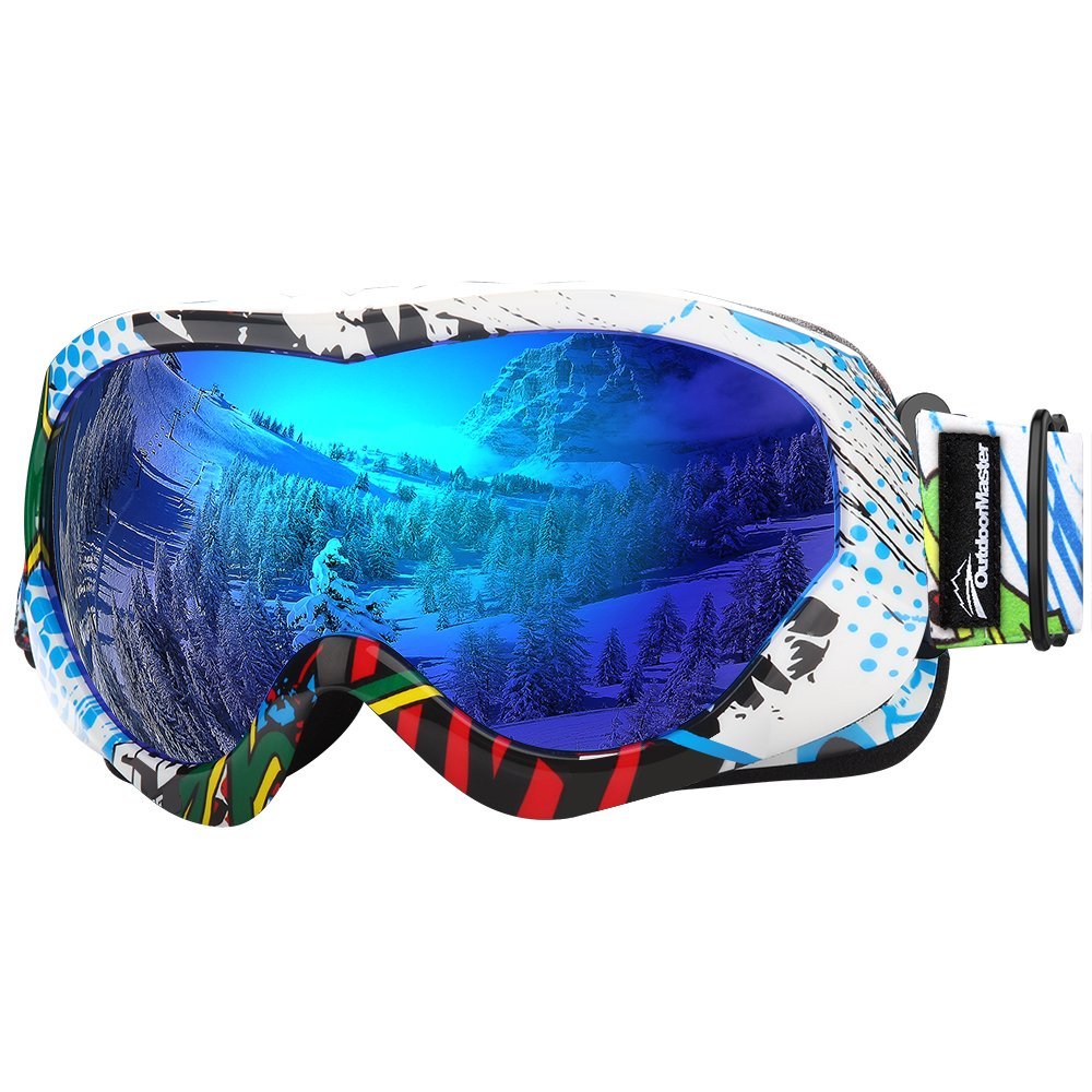 13a40b6ada OutdoorMaster Kids Ski Goggles - Helmet Compatible Snow Goggles for Boys  Girls with 100% UV Protection (Color pattern Frame + VLT 15% Grey Lens with  Full ...