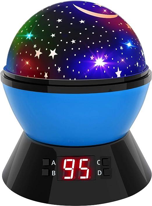 Lámpara de noche Star Sky y luz nocturna para niños, proyector de ...