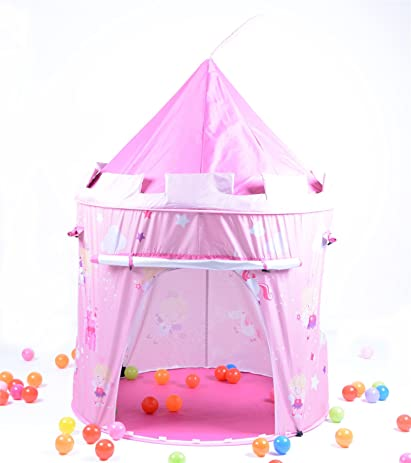 Vinsani Pink Fairy Tale Princess Castle Pop Up Childrens Tent With Windows And Roll Up Door  sc 1 st  Amazon.com & Amazon.com: Vinsani Pink Fairy Tale Princess Castle Pop Up ...
