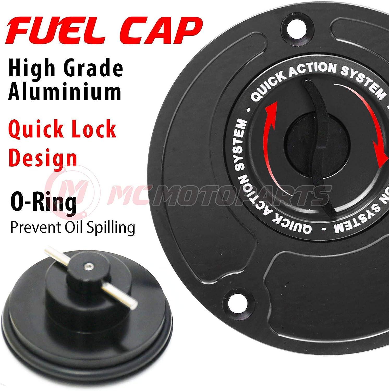 Black Blue CNC Quick Lock Fuel Gas Cap For Yamaha MT-01 MT-03 2006-2009 YZF-R6 1999-2017 YZF R1 1998-2017 YZF 600 1994-1