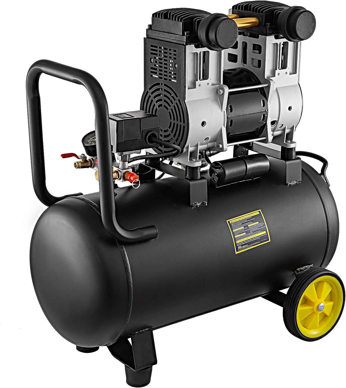 Mophorn Máquina Soldadora Inverter 1500W Maquina de Soldar Compresor de Aire Silencioso 50L