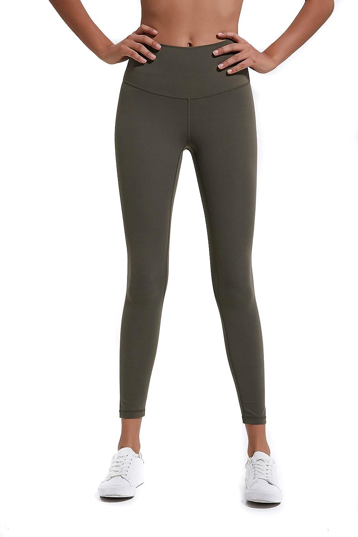Athaura Petite High Waisted Leggings, Full Length 4 Way Stretch Yoga Pants with Hidden Card Pocket