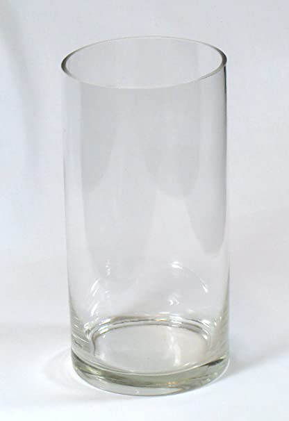 Amazon 8 Tall X 4 Wide Cylinder Flower Vase Clear Glass