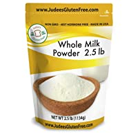 Judee's Whole Milk Powder (40 oz-2.5 lb): NonGMO, rBST Hormone Free, USA Made, Pantry Staple - Baking Ready, Great for Travel