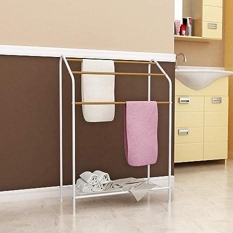 MULSH Soporte de Almacenamiento para Toallas de baño (3 Niveles): Amazon.es: Hogar
