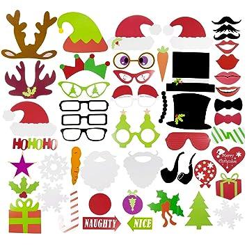 Weihnachtsfeier Lustig.Zoeon 50 Stück Weihnachten Photo Booth Für Weihnachtsfeier Lustig