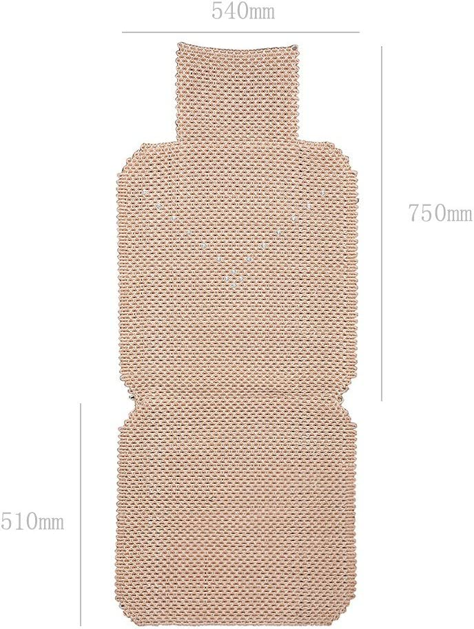 UR URLIFEHALL Champagne Universal Breathable Ice Silk Non-Slip Car Seat Cover Pad Mat for Auto Car Chair Cushion