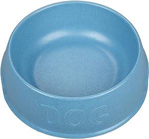 Harry Barker Bamboo Dog Bowl - Blue - 24 oz