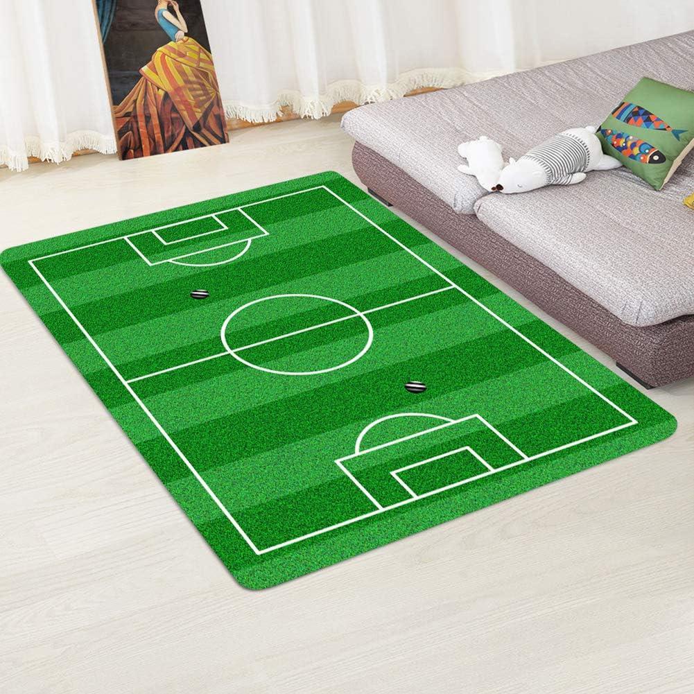 Sala de Estar 40cmX120cm Alfombra Antideslizante con dise/ño de Campo de f/útbol para el hogar Football Field 1 XuBa