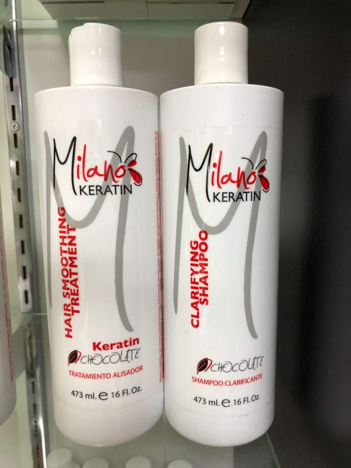 Milano Keratin Chocolate Keratin & Clarifying Shampoo - 473ml