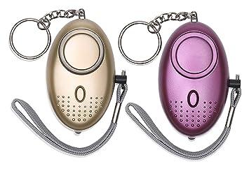 Sun-Mall - Llavero de alarma personal 130DB con alarma de ...