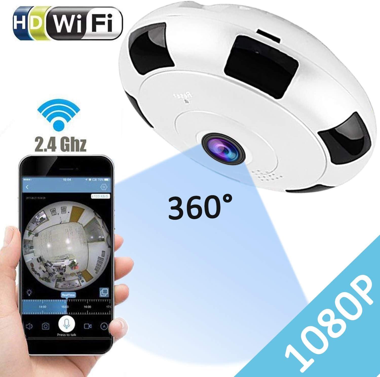 Wireless 1080P WIFI Auto 360°CCTV Smart Security IP Camera W// Microphone Outdoor