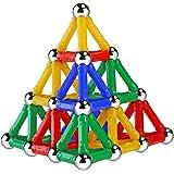 NUOLUX 103pcs Magnetic Building Blocks Magnetic Sticks for Kids(1.1x0.25 Inch)