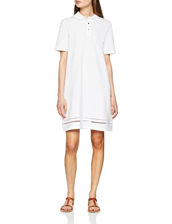 Tommy Hilfiger Daphne Polo Dress SS, Robe Femme, (Classic White 100), 40 (Taille Fabricant: 38 M)