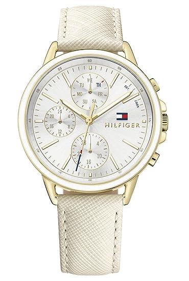 e6ed9f50d3b7 Tommy Hilfiger Reloj Multiesfera para Mujer de Cuarzo con Correa en Cuero  1781790  Amazon.es  Relojes