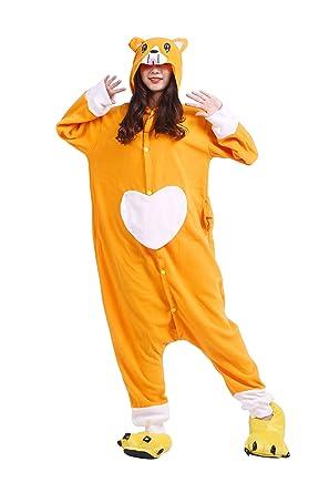 Hstyle Unisex Adult Onesie Animal Kigurumi Dog Cosplay Pajamas Sleepwear Halloween Costume Small